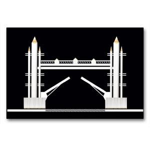 Premium Textil-Leinwand 90 cm x 60 cm quer Tower Bridge, England