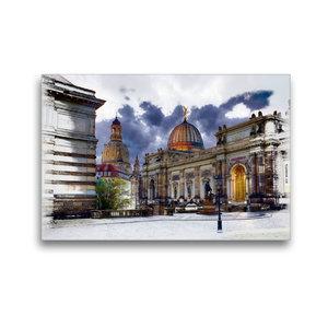 Premium Textil-Leinwand 45 cm x 30 cm quer Kunstakademie Dresden