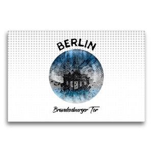 Premium Textil-Leinwand 75 cm x 50 cm quer Graphic-Art BERLIN Br
