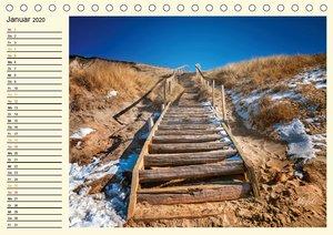 Dünen an der Nordsee - Geburtstagskalender (Tischkalender 2020 D