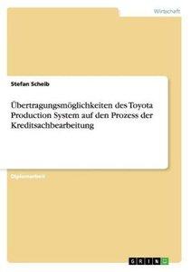 Übertragungsmöglichkeiten des Toyota Production System auf den P