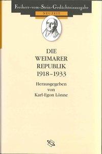 Die Weimarer Republik 1918 - 1933