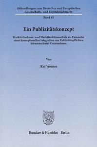 Ein Publizitätskonzept