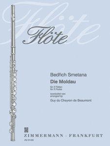 Die Moldau für 4 Flöten, Partitur und Stimmen