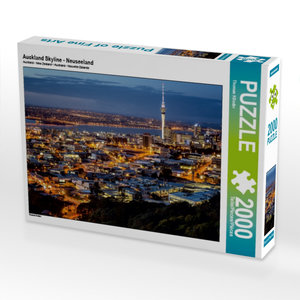 Auckland Skyline - Neuseeland 2000 Teile Puzzle quer