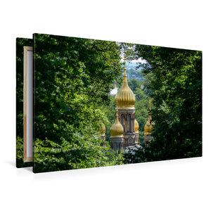 Premium Textil-Leinwand 120 cm x 80 cm quer Kuppeln der russisch