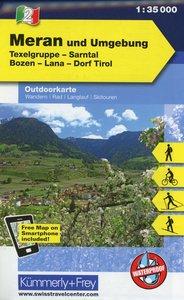 KuF Italien Outdoorkarte 02 Meran und Umgebung 1 : 35.000