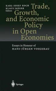 Trade, Growth, and Economic Policy in Open Economies