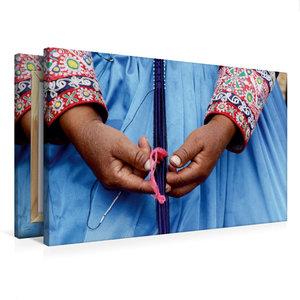 Premium Textil-Leinwand 75 cm x 50 cm quer Weben