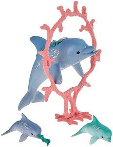 Delfin-Mama mit Babies