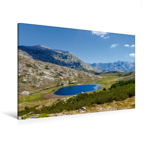 Premium Textil-Leinwand 120 cm x 80 cm quer Lac de Nino, 1743 m