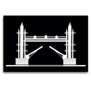 Premium Textil-Leinwand 120 cm x 80 cm quer Tower Bridge, Englan