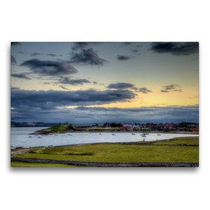 Premium Textil-Leinwand 75 cm x 50 cm quer Die Lindisfarne von H