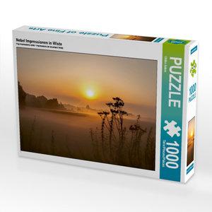 Nebel Impressionen in Wiste 1000 Teile Puzzle quer
