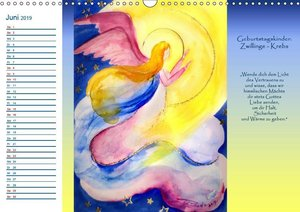 Engelhafter Geburtstagskalender (Wandkalender 2019 DIN A3 quer)