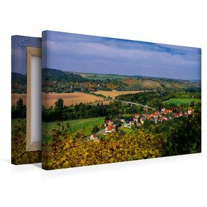 Premium Textil-Leinwand 45 cm x 30 cm quer Saaletal