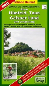 Rhön, Hünfeld, Tann, Geisaer Land und Umgebung 1 : 35 000 Radwan