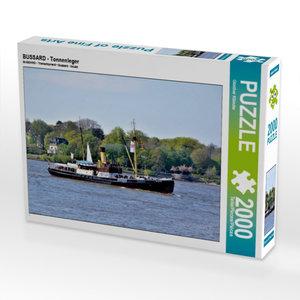 CALVENDO Puzzle BUSSARD - Tonnenleger 2000 Teile Lege-Größe 90 x