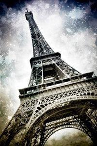 Premium Textil-Leinwand 60 cm x 90 cm hoch Modern-Art PARIS Eiff