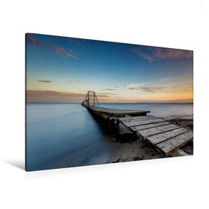 Premium Textil-Leinwand 120 cm x 80 cm quer Anlegestelle in Bolt