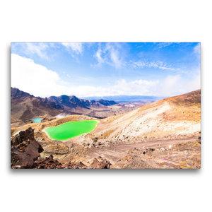 Premium Textil-Leinwand 75 cm x 50 cm quer Tongariro Alpine Cros