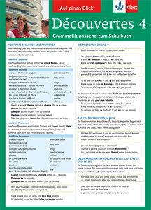Découvertes 4 Grammatik passend zum Schulbuch