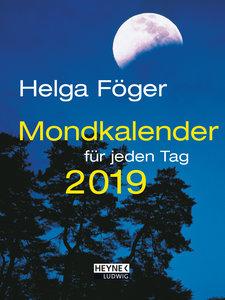 Mondkalender für jeden Tag 2019