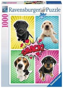 Ravensburger Puzzle 19481 - Hunde Pop Art - 1000 Teile Puzzle