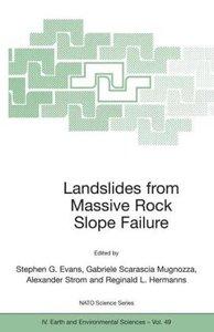 Landslides from Massive Rock Slope Failure