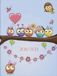 BRUNNEN Schülerkalender 2018/19 Broschur-Einband Eule