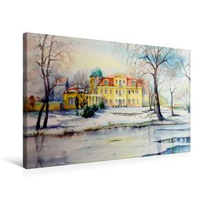 Premium Textil-Leinwand 75 cm x 50 cm quer Schloss Gundorf