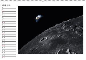 Mond Orbitalansichten (Wandkalender 2019 DIN A2 quer)