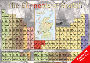 The Elements of Scotch - Poster 60x42cm - Premium Edition