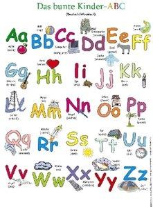 Das bunte Kinder-ABC, Deutsch/Albanisch (Poster)