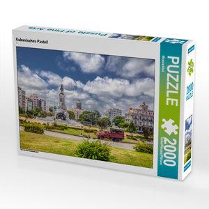 CALVENDO Puzzle Kubanisches Pastell 2000 Teile Lege-Größe 90 x 6
