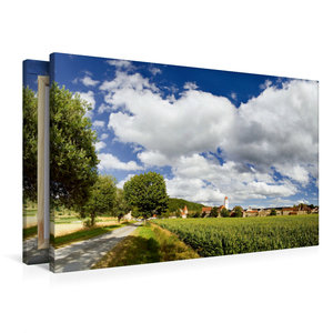 Premium Textil-Leinwand 90 cm x 60 cm quer Dollnstein im Altmühl