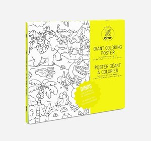 Giant Coloring Poster 70 x 100, Dinos
