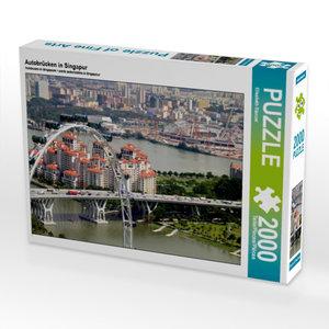 CALVENDO Puzzle Autobrücken in Singapur 2000 Teile Lege-Größe 90