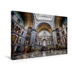 Premium Textil-Leinwand 45 cm x 30 cm quer Historischer Bahnhof