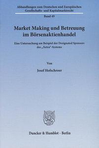 Market Making und Betreuung im Börsenaktienhandel