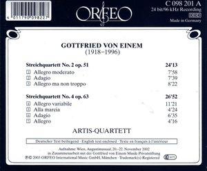 Streichquartette 2 op.51/4 op.63