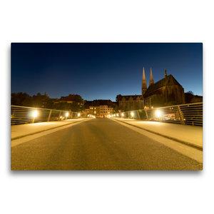 Premium Textil-Leinwand 75 cm x 50 cm quer Fußgängerbrücke über