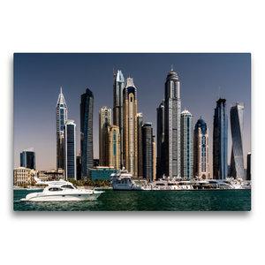 Premium Textil-Leinwand 75 cm x 50 cm quer Dubai Marina - Blick