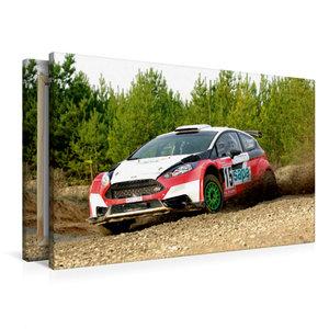 Premium Textil-Leinwand 90 cm x 60 cm quer Ford Fiesta R5
