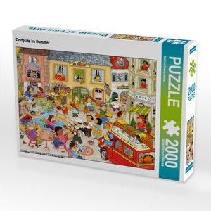 Dorfplatz im Sommer 2000 Teile Puzzle quer
