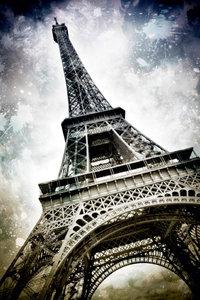 Premium Textil-Leinwand 50 cm x 75 cm hoch Modern-Art PARIS Eiff