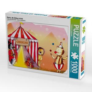 Hurra, der Zirkus ist da 1000 Teile Puzzle quer