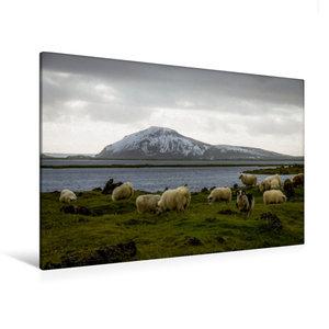 Premium Textil-Leinwand 120 cm x 80 cm quer Mývatn