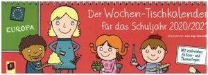 Der Wochen-Tischkalender für das Schuljahr 2020/2021