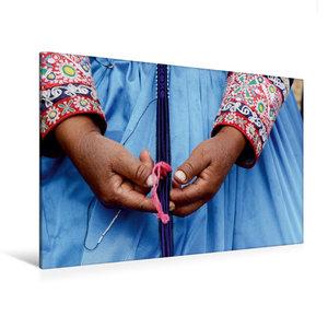 Premium Textil-Leinwand 120 cm x 80 cm quer Weben